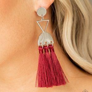 Tassel Trippin Red Earrings